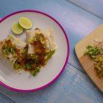 Vegán recept - Hummusz grillezett hagymával wrap-ben