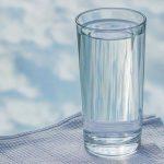 sós víz, pohár, klór